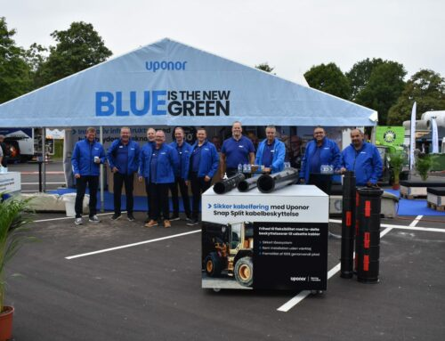 Uponor exhibits at Rørcenterdage 2021 with Greenpipe's pipes