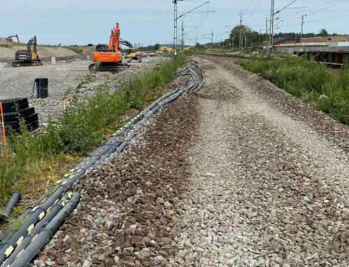 """Split pipe cable protection at railway tunnel project """"Varbergstunneln"""""""