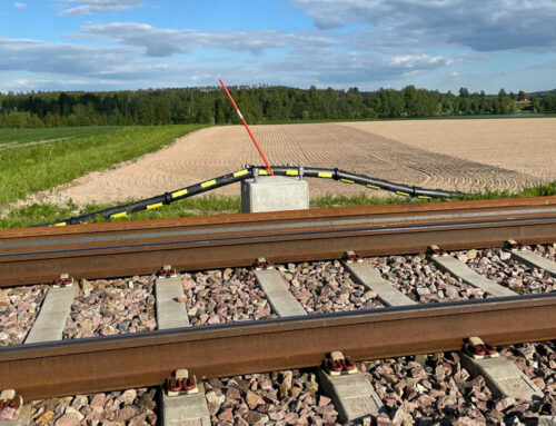 2300 m divisible cable protection pipes for Swedish railway project