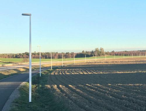 Bases for bike path street lights