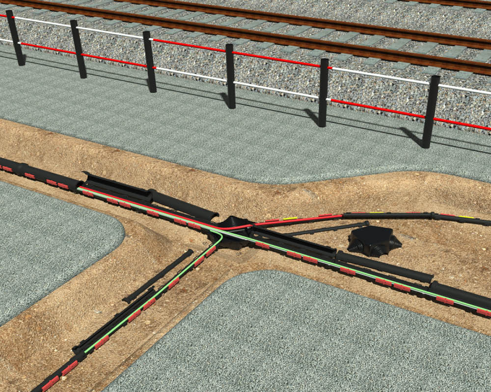 Snap Multibox™ enables bends and joints at railway installation.