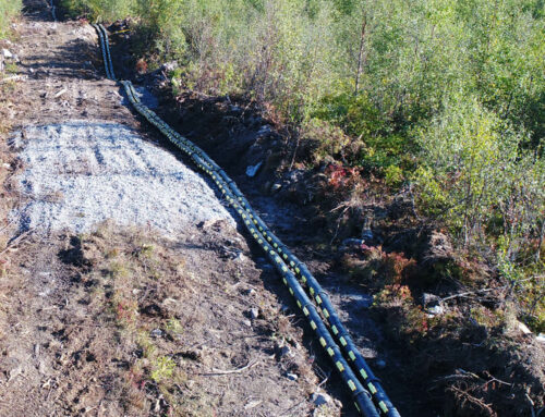Snap Split Pipes™ cable protection system installed at wind park