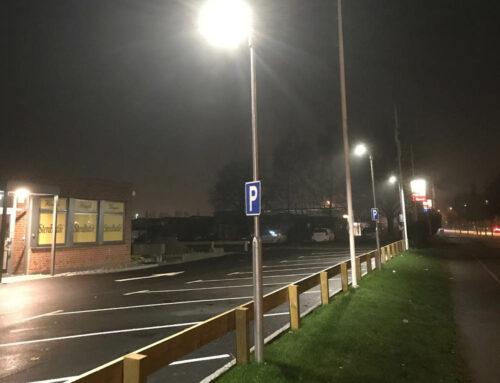 Bases for parking lot lightning, Växjö, Sweden