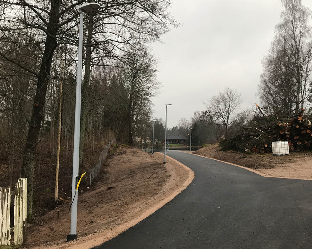 Snap Base 108 installed as base for streetlights.